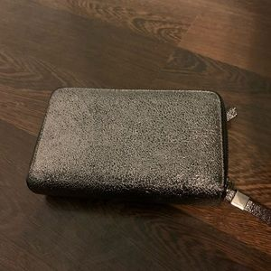 Silver Wallet with black trim